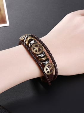 Retro style Artificial Leather Bracelet