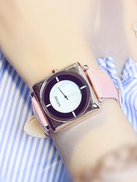 GUOU Brand Trendy Square Watch