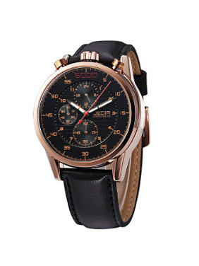 2018 JEDIR Brand Fashion Business Chronograph Watch