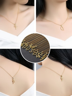 Copper With 18k Gold Plated Personality 26 Monogrammed Necklaces