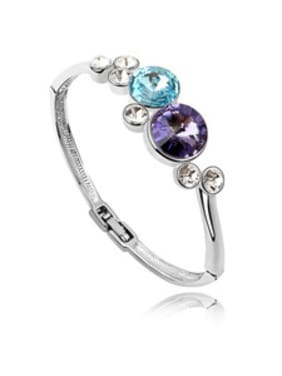 Fashion Round Swarovski Crystals Alloy Bangle