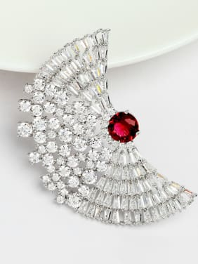 Copper inlaid AAA zircon Luxury Fashion Brooch