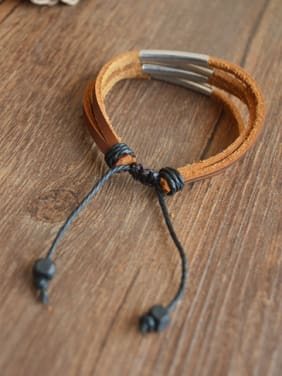 Unisex Multi-layer Cownhide Leather Bracelet