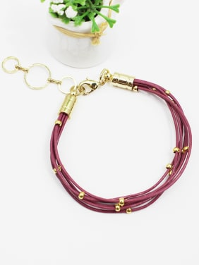 Exquisite Multi Layer Artificial Leather Bracelet