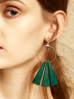 Retro style Exaggerated Hollow Round Drop Earrings