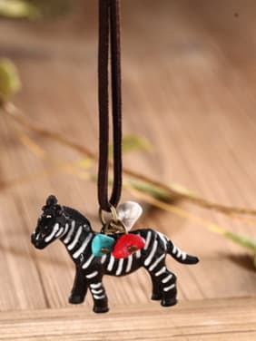 Women Delicate Zebra Shaped Necklace