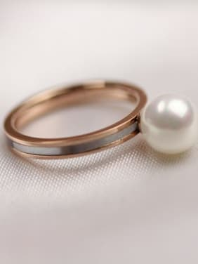 Shell Pearl Simple Style Women Ring