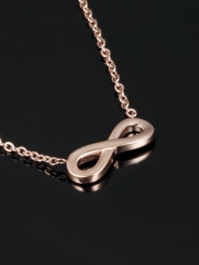 Stainless Steel With Rose Gold Plated Simplistic Monogrammed Necklaces