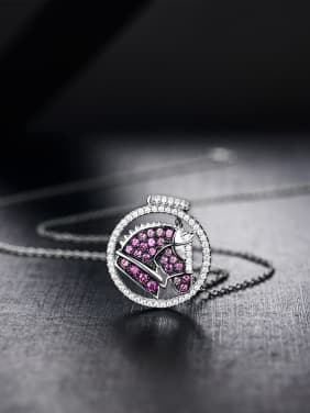 Fashion Gemstones Zircon Round Pendant