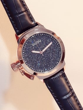 GUOU Brand Simple Shiny Watch