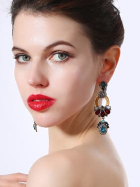 Retro Style Personality Party Long Drop Earrings