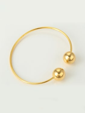 Simple Beads Women Opening Bangle