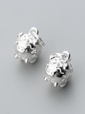 925 Sterling Silver With Silver Plated Personality Animal Friendship Charms