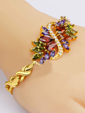 Fashion Multicolor Marquise Zircon Bracelet