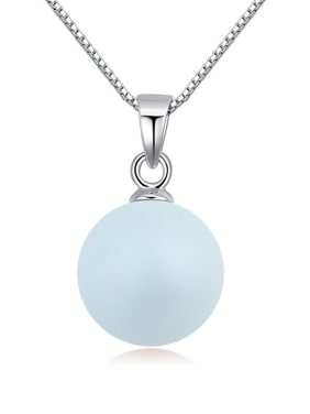 Simple Imitation Pearl Pendant Alloy Necklace