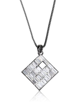 Square Crystal Personality  shape Rhinestone Swarovski element crystal necklace