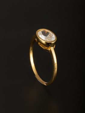 Custom White Ring with Copper  Combination of the ring