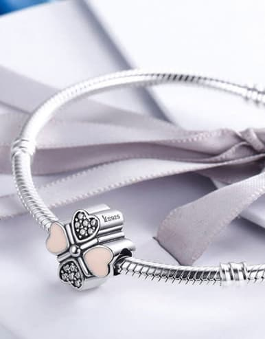 925 silver four-leaf clover element accessories