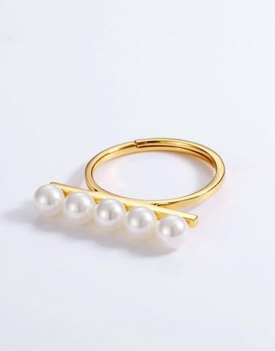 925 Silver  Pearl  Rings