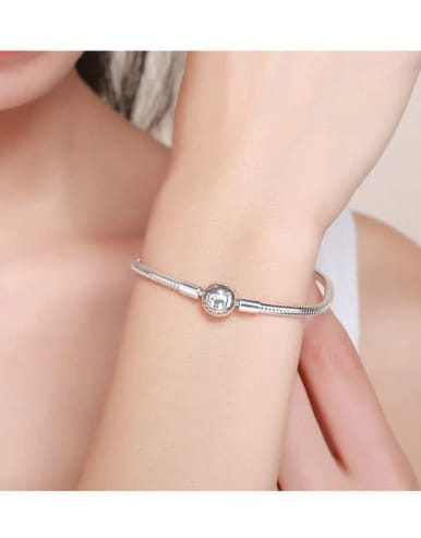 925 silver cute lion element basic bracelet