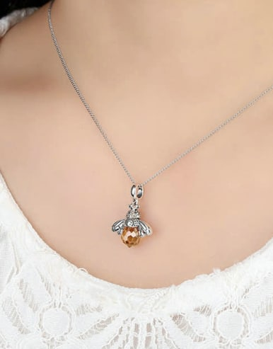 925 Silver Bee Element Necklace