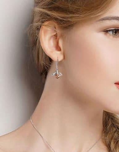 925 Silver Bee Element Earrings