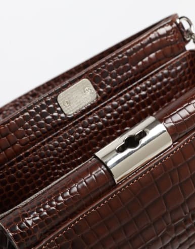 Crocodile embossed CrossBody Bags