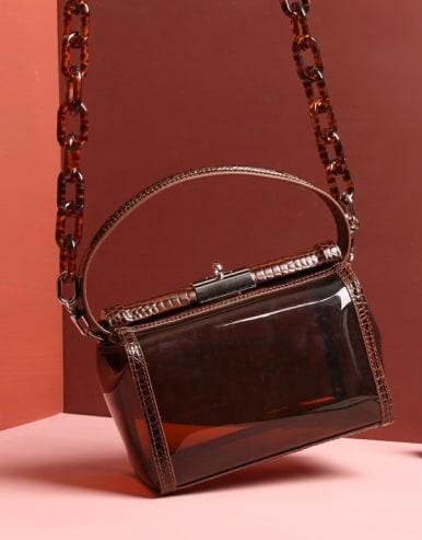 Transparent PVC+ Crocodile pattern jelly bag/CrossBody Bags