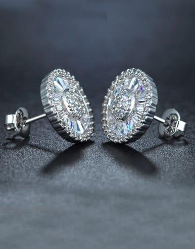 Flower Shaped Cluster earring
