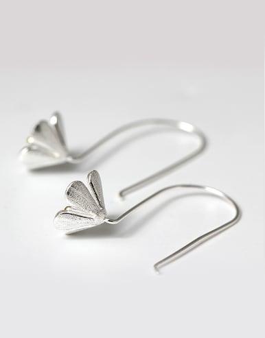 Ethnic style Flower 925 Silver Earrings