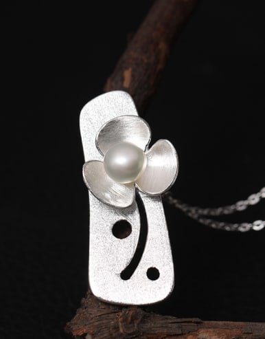 Personality Flower Freshwater Women Necklace