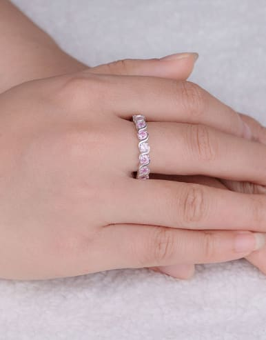 Pink Zircon Multistone ring
