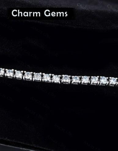 Copper  Cubic Zirconia 4 claw 3mm zircon 18 inch TENNIS NECKLACE Wedding Necklaces