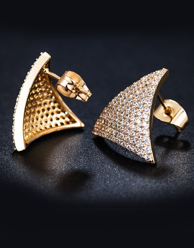 2018 Triangle Zircon stud Earring