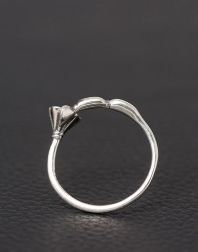 Retro Style Silver Lotus Root Open Ring