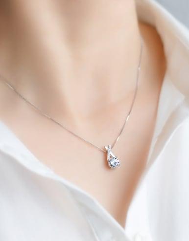 S925 Silver Sweet Cross zircon Necklace
