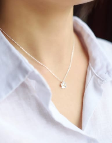 S925 Silver Sweet Little Fresh Cherry Clavicle Necklace