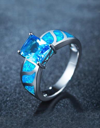 Women Opal Stone Multistone ring