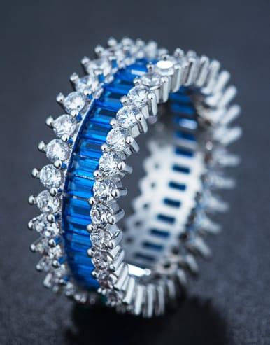Women Zircon Multistone ring