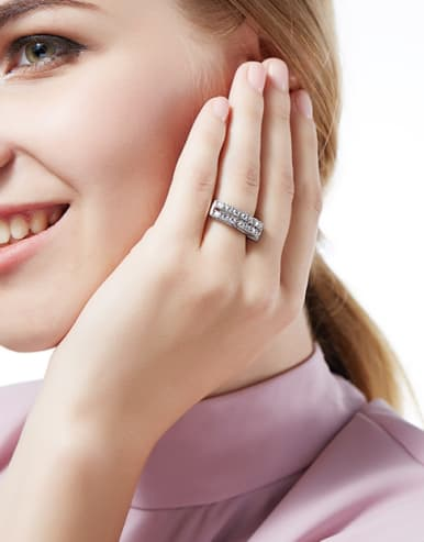 Fashion Cubic Zirconias 925 Silver Ring