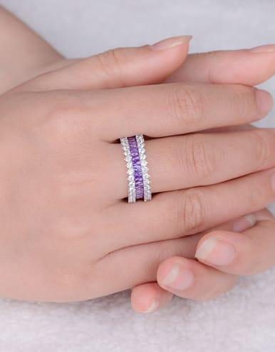 Purple Zircon Multistone ring
