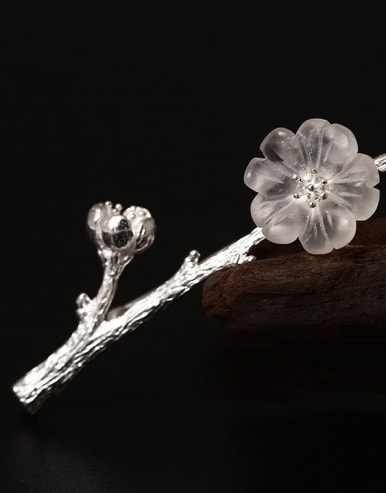 Crystal Plum Blossom Brooch Accessories