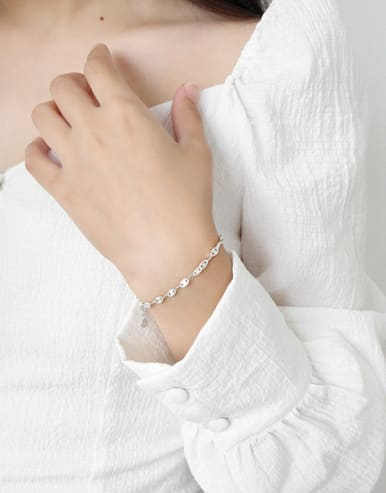 925 Sterling Silver With Platinum Plated Fashion Bracelets