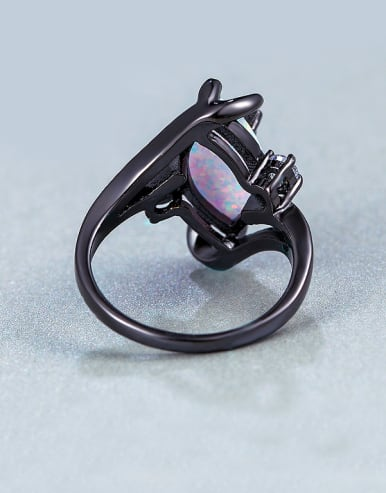 Oval Opal Stone Statement Ring