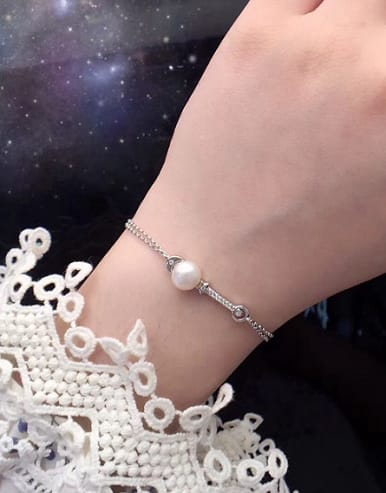 Freshwater Pearl Moon Star Bracelet