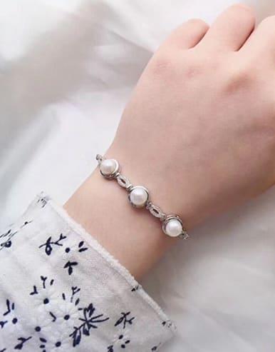 Fashion Freshwater Pearl Zircon Bracelet