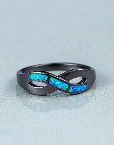 Black Opal Stone Statement Ring
