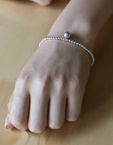 Simple Little Beads Silver Women Bracelet
