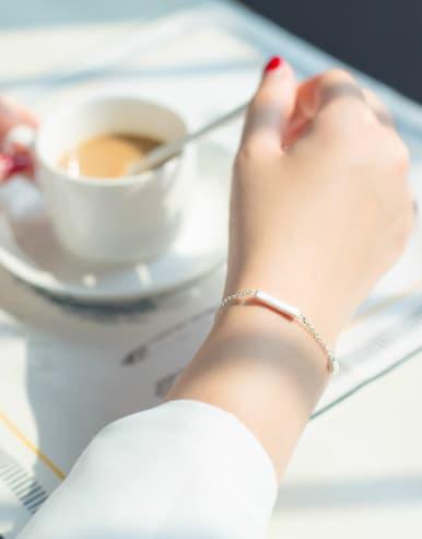 S925 silver single line bracelet