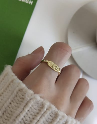 925 Sterling Silver With 18k Gold Plated Fashion Animal Rings